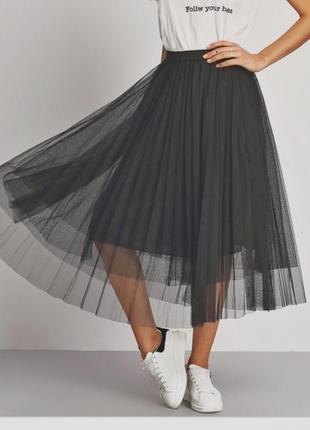Пышная юбка с подкладкой и двойным фатином