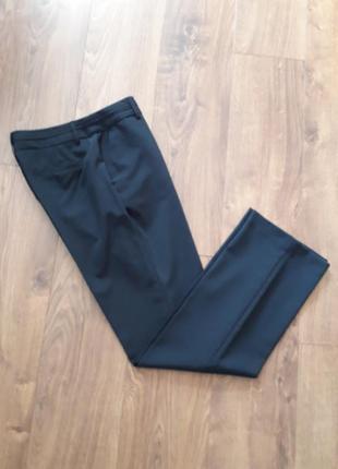Темно-сині прямі класичні брюки (charles voegele)