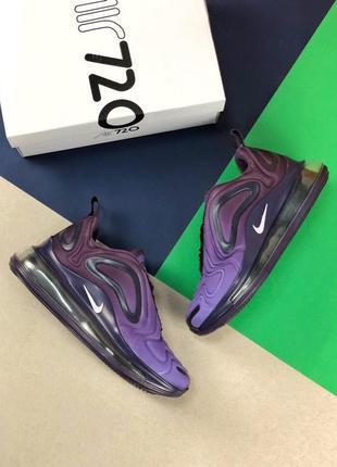 Шикарные женские кроссовки nike air max 720 violet2 фото