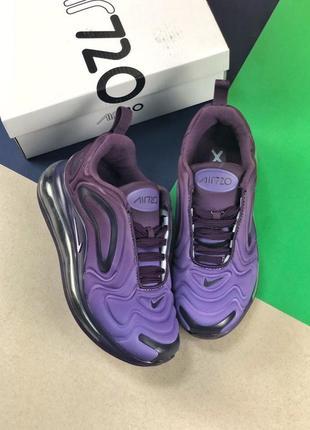 Шикарные женские кроссовки nike air max 720 violet3 фото