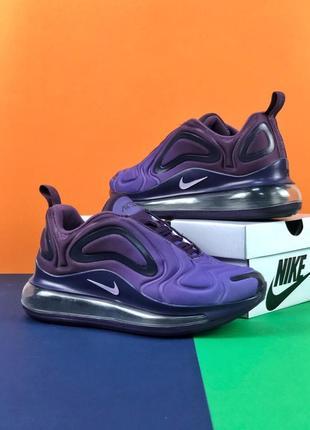 Шикарные женские кроссовки nike air max 720 violet4 фото