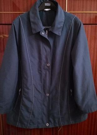 Легкая куртка# ветровка большого размера на молнии, ог 130, р. 20