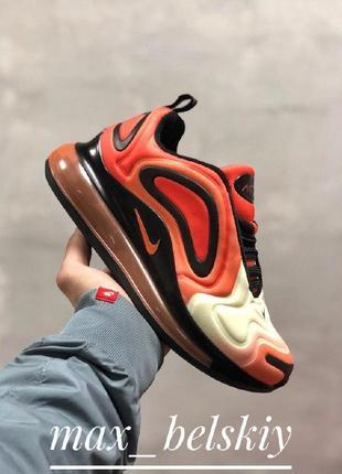 Шикарные женские кроссовки nike air max 720 orange1 фото