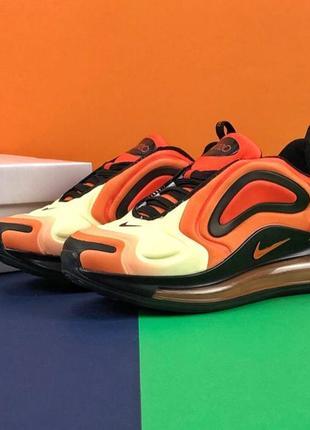 Шикарные женские кроссовки nike air max 720 orange3 фото