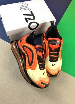 Шикарные женские кроссовки nike air max 720 orange2 фото