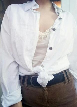 Белая универсальная oversize рубашка orsay s m 38