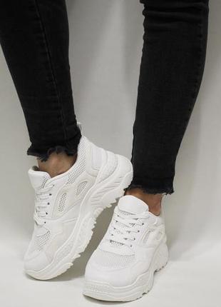 Жіночі кросівки (кроссовки) на товстій підошві, розміри 36, 37, 38, 41