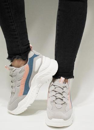 Жіночі кросівки (кроссовки) сірого кольору, розміри 37, 38.