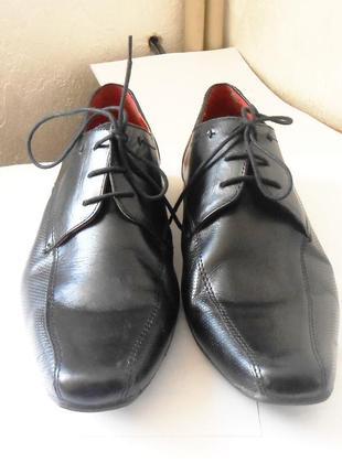 Качество! кожа! стильные мужские туфли next, р.44 код n4403