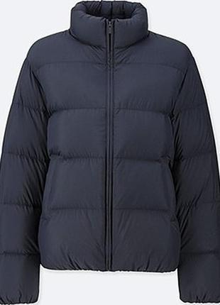 Легкая куртка пуховик ultra light down volume jacket от uniqlo, складывается в мешочек, s