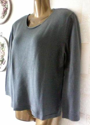 Шерстяной джемпер, свитер шерсть,  мягкий, от emporio armani, рукав 3/4, размер 46