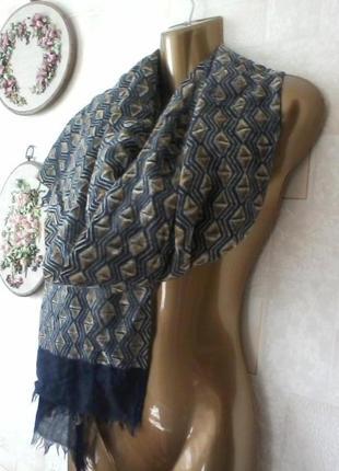 Шерстяной узнаваемый палантин шарф от бренда marc o polo