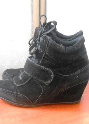 Модные демисезонные сникерсы ботинки, р.42 код f4221