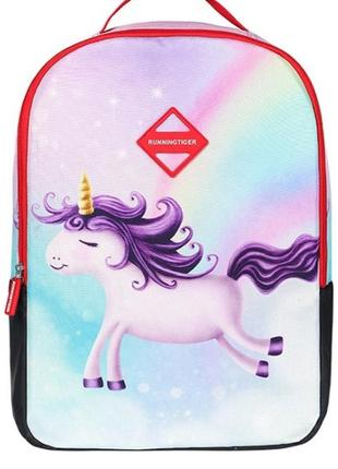 Рюкзак с принтом единорога вместительный разноцветный