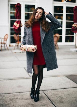 Теплый мохеровый свитер платье