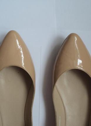 Бежевые туфли лодочки браска braska индия кожаные балетки натуральная кожа