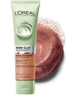 Очищающий скраб l'oreal pure clay cleanser