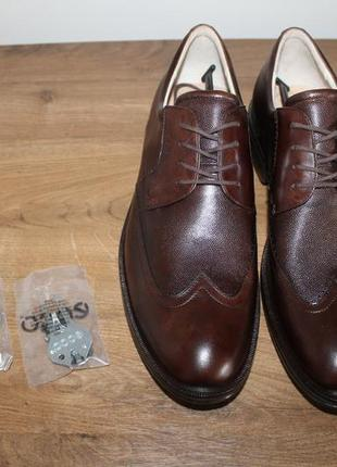 Кожаные туфли ecco golf new world class hydromax