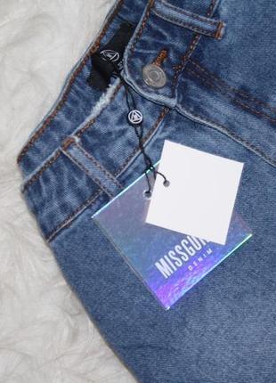 Стильная джинсовая юбка с котнрастными карманами5 фото