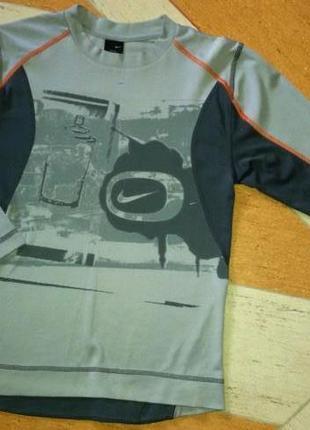 Nike классный спортивный лонгслив dri-fit, р.xl