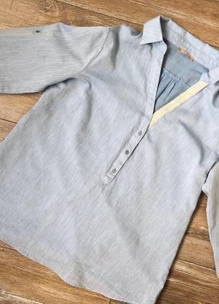 Очень красивая лёгкая рубашка/блуза  нежно голубого цвета