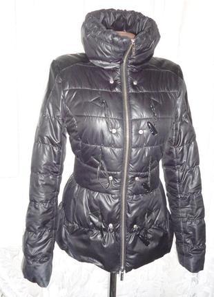 Черная куртка демисезонная куртка karen millen р.8 (ог 92, рукав 60)