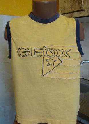 Футболка топ желтая geox 5 лет 100%котон