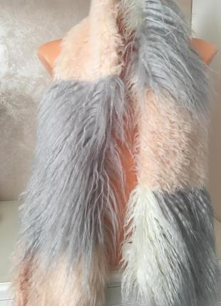 Шикарный брендовый шарф, воротник под ламу