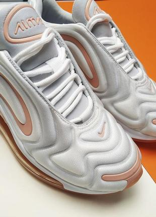 Шикарные женские кроссовки nike air max 720 white orange4 фото