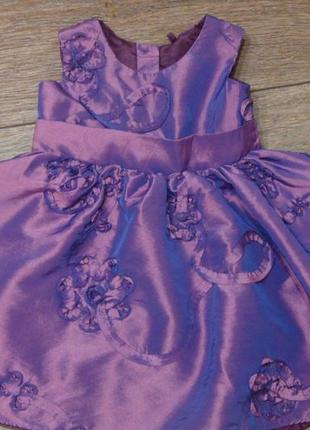 Красивое платье george 6-9 мес хамелеон