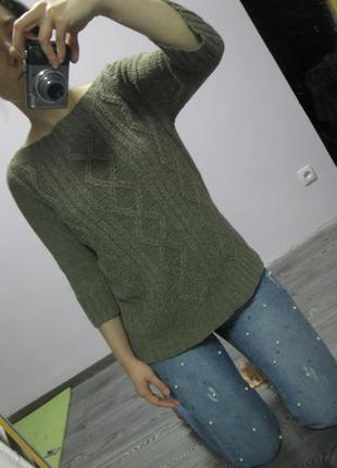 Стильный свитерок цвета хаки  / опустошаю шкаф