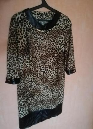 Леопардовое платье трендовый животный принт анималистический принт