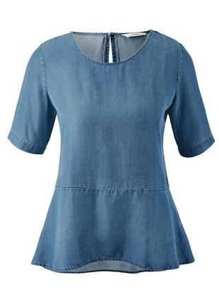 Блузка с баской из легкой джинсовой ткани tcm tchibo