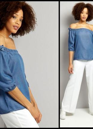 Джинсовая блуза new look!
