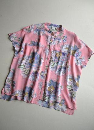 Свободная блузка туника оверсайз  р.l-xxl 100%вискоза  asos