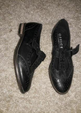 Туфли кожаные office 38-39 размер