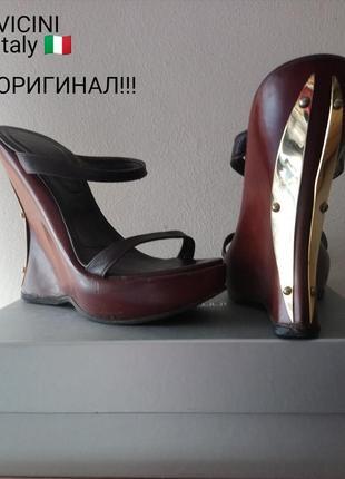 Брендовые ,шикарные,кожаные шлепанцы vicini оригинал !!!italy 🇮🇹