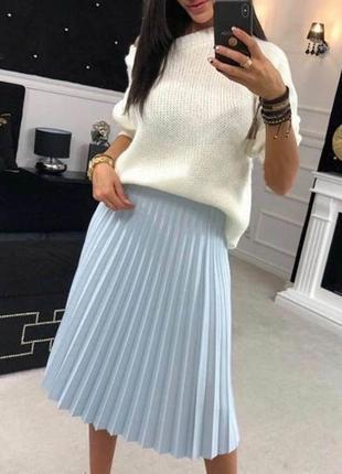 Стильная юбка гофре