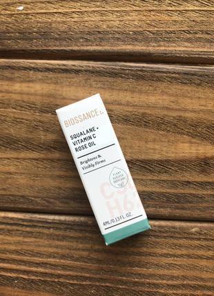 Люкс масло для лица biossance squalane + vitamin c oil 4 ml