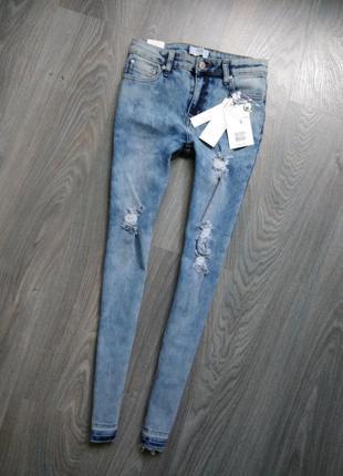 16л джинсы узкачи скини
