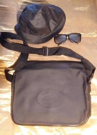 Стильная сумка матовая черная почтальон унисекс турция