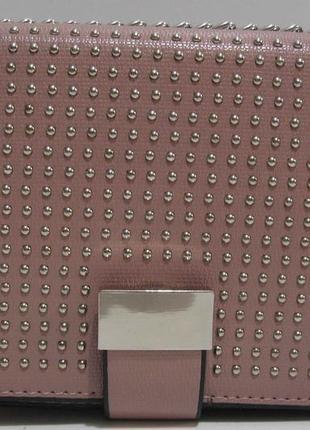 Женский клатч с заклёпками ( тёмно - пудровый ) 19-03-058