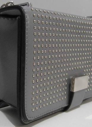 Женский клатч с заклёпками ( серый ) 19-03-0582 фото