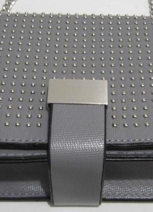 Женский клатч с заклёпками ( серый ) 19-03-0584 фото