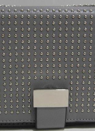 Женский клатч с заклёпками ( серый ) 19-03-058