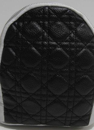 Городской небольшой рюкзак (серебряный с чёрной вставкой) 19-03-060
