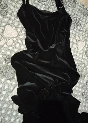 Бархатное платье в пол