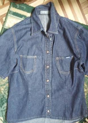 Джинсовая рубашка-пи,джак esprit