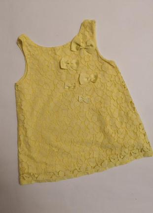 Жёлтое платьице palomino на рост 104 см