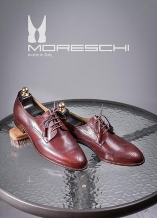 Дерби люкс класса moreschi, италия 43р мужские туфли кожаные броги